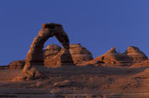 Delicate arch and La Sal Mountains by Danita Delimont