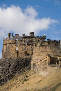 Beautiful famous giant Edinburgh Castle in capital of Edinburgh Scotland by Danita Delimont
