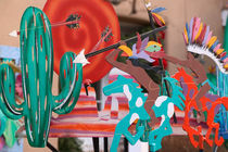 Santa Fe: Canyon Road Gallery District Santa Fe Art / Outdoor Gallery by Danita Delimont