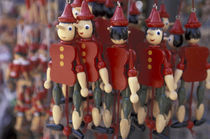 Home of Pinocchio; Pinocchio dolls for sale von Danita Delimont