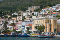 Vathy (Samos Town): Town View with Harbor / Late Afternoon von Danita Delimont