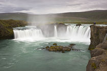 View of Godafoss Falls on the Skjalfandafljot River by Danita Delimont