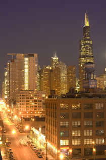 Skyline from West Loop at dusk by Danita Delimont