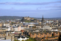 A view overlooking central Edinburgh from the hilltop Arthurs Seat by Danita Delimont