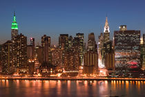Manhattan: Aerial Evening View of Midtown Manhattan from Long Island City / Queens by Danita Delimont