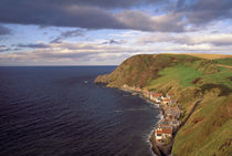 Overhead view of cliffside village of Crovie by Danita Delimont