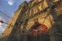 Templo de San Felipe de Neri with garlands for Dia de la Revolucion (Day of the Revolution) by Danita Delimont