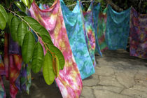 Hand colored batik sarongs for sale von Danita Delimont