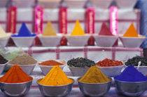 Colorful spices in market by Danita Delimont