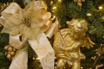 Close-up of decorations on a Christmas tree by Danita Delimont