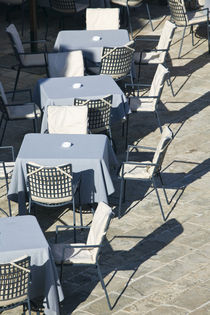 Cafe Tables and Chairs by Danita Delimont