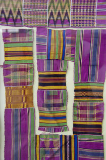 Colorful traditional West African textiles by Danita Delimont