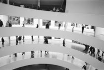 New York City: The Guggenheim Museum Crowded Gallery View by Danita Delimont