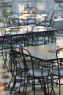 Udaipur: Cafe Tables / Udai Kothi Hotel by Danita Delimont