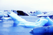 Icebergs at Jokulsarlon Lagoon Breidamerkurjokull in Southern Iceland by Danita Delimont