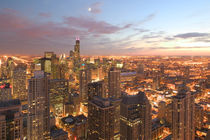 Chicago: Evening View of The Loop from the Park Hyatt Hotel by Danita Delimont