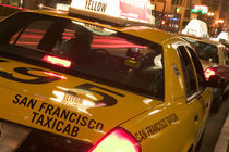 San Francisco Union Square Evening San Francisco Taxi by Danita Delimont