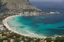View of the beach from Monte Pellegrino by Danita Delimont
