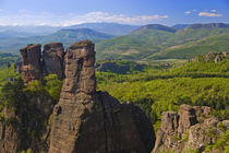 A walk throught Belogradchik Castle Ruins viewing the valley with rock formations by Danita Delimont