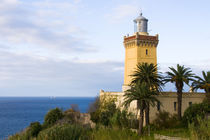 Tangier Morocco lighthouse at Cap Spartel overlooking the Mediterranean & the Atlantic Ocean von Danita Delimont