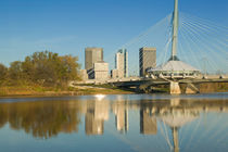 Winnipeg: Esplanade Riel Pedestrian Bridge / Morning by Danita Delimont