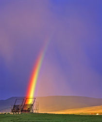 Beaverhaed Haystcker in rainbow in Big Hole Valley of Montana von Danita Delimont