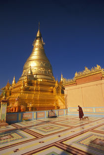 Sagaing Hill: Monk in the courtyard of the Soon U Ponya Shin Pagoda by Danita Delimont