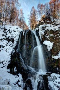 Wasserfall im Winter von Wolfgang Dufner