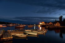 Harbor at night, Maine, USA by John Greim