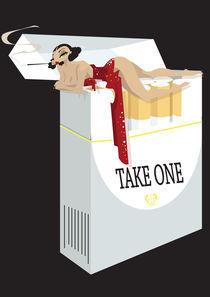 Cigarette Girl von Nina Mierowska