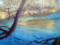 Landscape With River and Trees by Stephen hanson