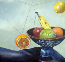 Still Life With Strings and Fruit by Stephen hanson