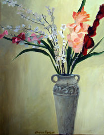 Floral With Stone Vase by Stephen hanson
