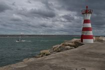 lighthouse and fisherman boat by Vsevolod  Vlasenko