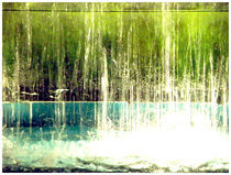 green blue water by camista