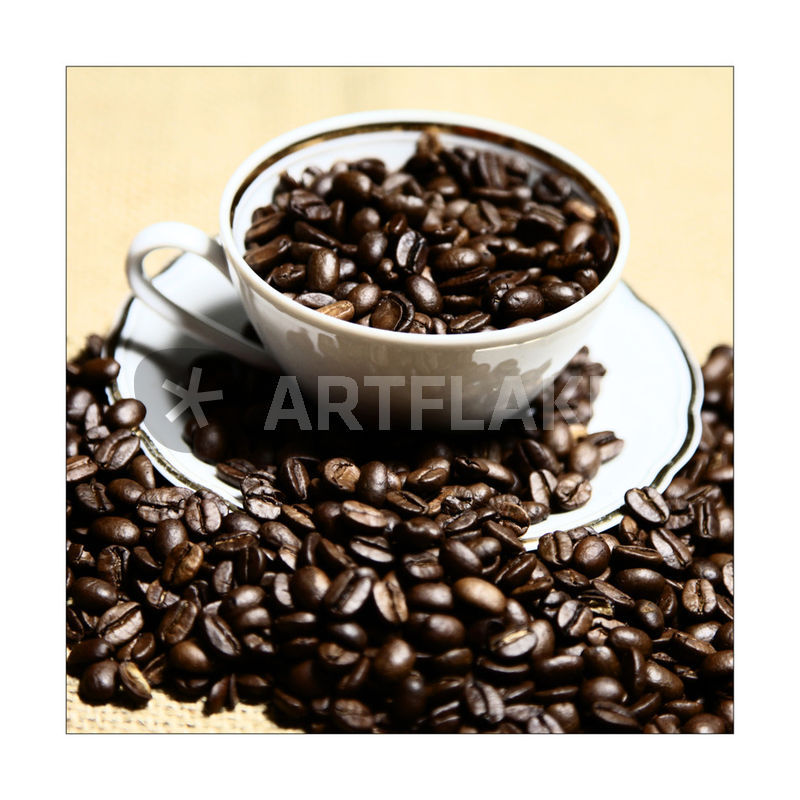 kaffeebild kaffeebohnen kaffeetasse quadratisches. Black Bedroom Furniture Sets. Home Design Ideas