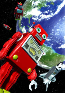 Tin-robot-earth