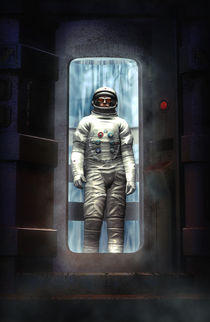 The cosmonaut by Luca Oleastri