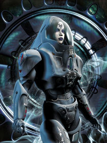 Futuristic-girl-in-spacesuit