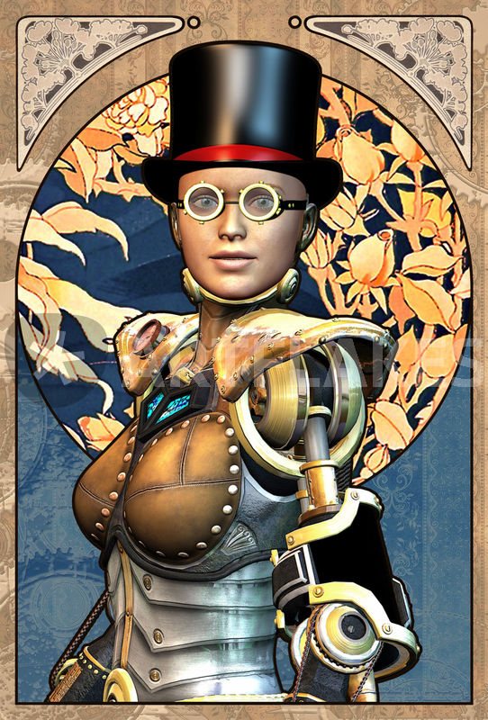 Quot Steampunk Robot Girl Quot Graphic Illustration Art Prints And