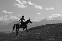 Rider in the mountains by Victoria Savostianova