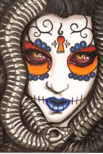 Medusa Sugar Skull by shayneofthedead
