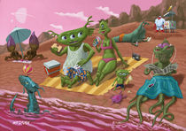 alien beach vacation by Martin  Davey