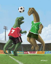 dinosaur football sport game by Martin  Davey
