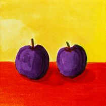 Two Plums by Michelle Calkins