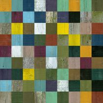 Abstract Wooden Collage 81 by Michelle Calkins