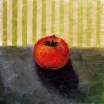 Apple Still Life with Olive Stripes by Michelle Calkins