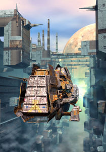 Spaceship-and-futuristic-city-6