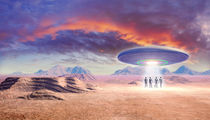 UFO in the desert by Luca Oleastri