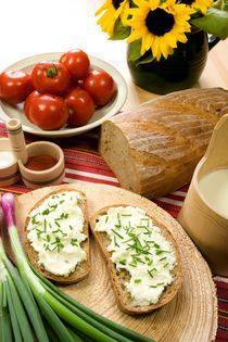 Cottage cheese with chive by Peter Zvonar